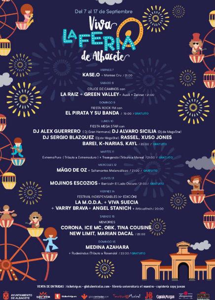 509b1f1b2929 Conciertos Viva La Feria Albacete 2018